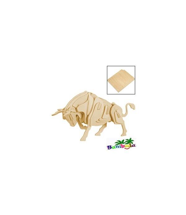 BULL- PUZZLE 3D EN BOIS