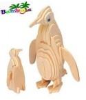 PINGUIN - PUZZLE 3D EN BOIS
