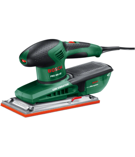 BOSCH Ponceuses vibrantes PSS 300 AE +Feuille abrasive (Red Wood) P120
