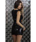 Robe Soirée sexy Sequins Forplay Noire