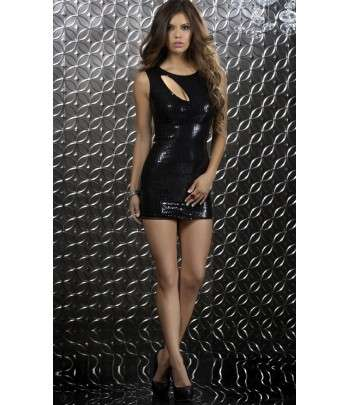 Robe Soiree Sexy Sequins Noire Au Maroc Boutika Ma