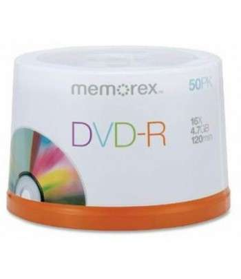 MEMOREX DVD-R 4.7GB 16X 50 Cakebox