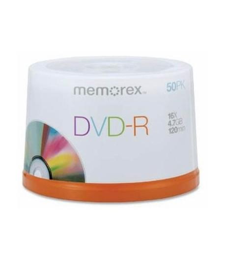 MEMOREX DVD-R 4.7GB 16X 50 Cakebox