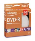 MEMOREX DVD-R 4.7GB 16X 10 Cakebox