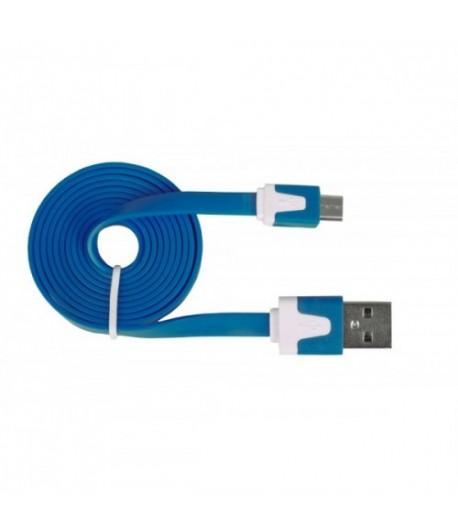URBAN FACTORY Flat Câble Bleu