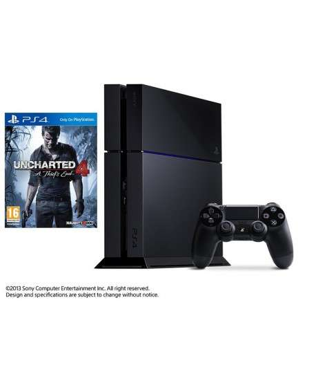 PLAYSTATION 4 + UNCHARTED 4 A THIEF'S END