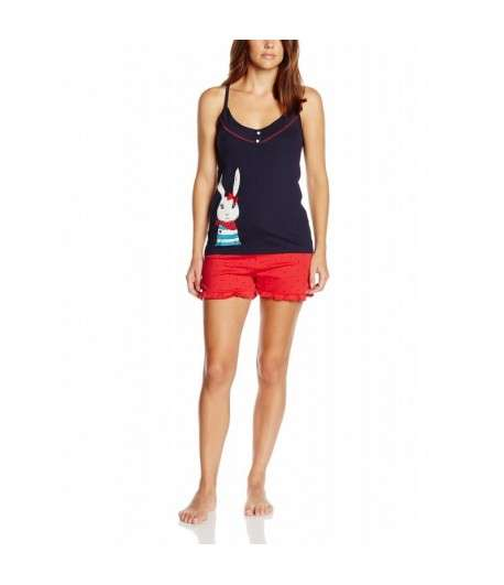 Pyjama Short Bleu Rouge
