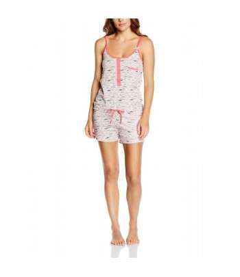 Pyjama Et Short Imprimé Corail