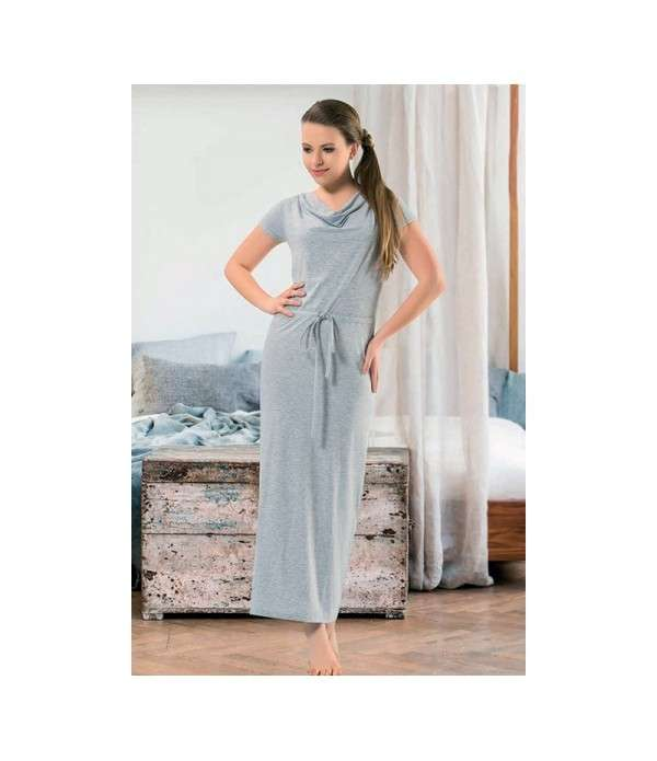 Robe Longue Grise Grande Taille