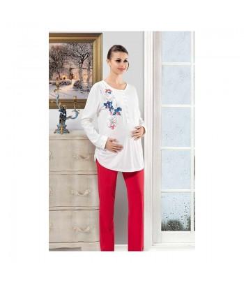 Pyjama Maternité 2 Pièces Manches Longues