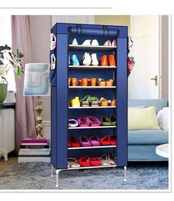 Porte Chaussures 7 étages - Bleu