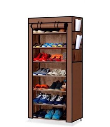 Porte Chaussures 7 étages - Marron