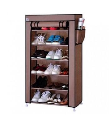 Porte Chaussures 6 étages - Marron