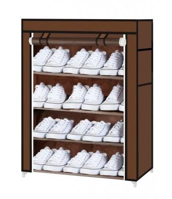 Porte Chaussures 4 étages -Marron