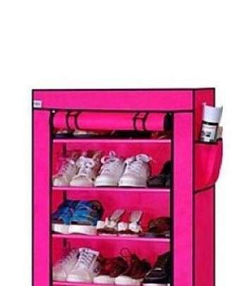 Porte Chaussures 4 étages -Rose