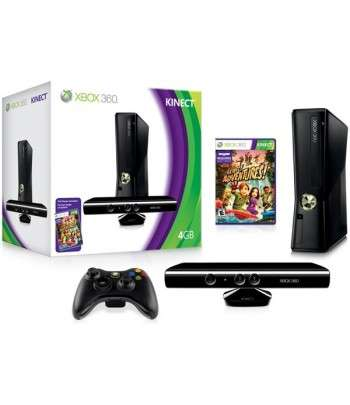 Xbox 360 + Kinect + Jeux Adventure