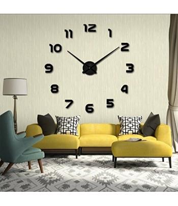Horloge Murale Design Géante Noir