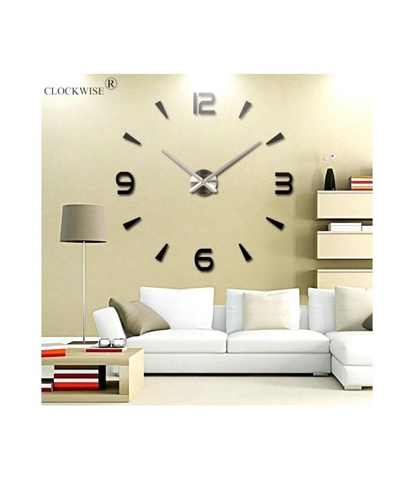 Horloge Murale Design 3dnoir Boutika