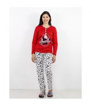 Pyjama Molletonné Rouge