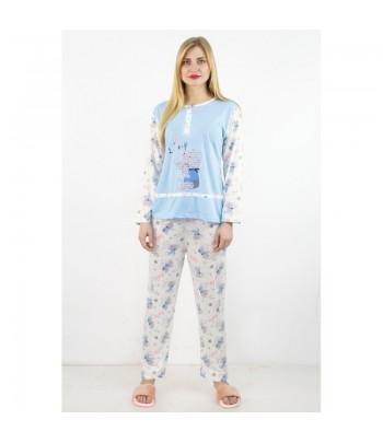 Pyjama Long Bleu Ciel