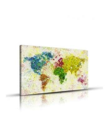 Tableau décoratif Painting of World map