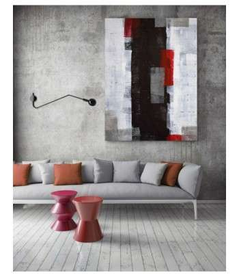 Tableau décoratif Red and Grey Abstract