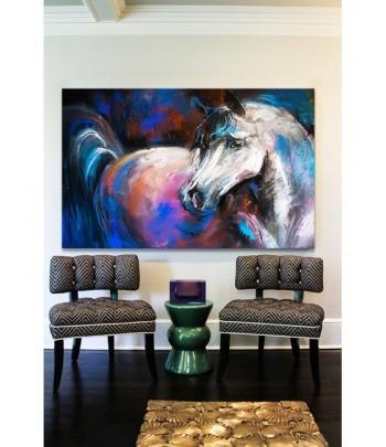 Tableau décoratif White horse painting