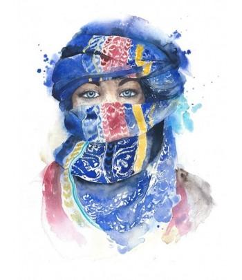 Tableau décoratif Girl wearing scarf