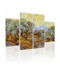 Tableau décoratif Van Gogh Olive Trees Quadriptyque