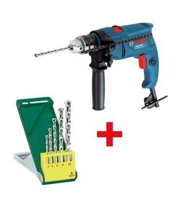 BOSCH Pack Perceuse GSB 1300+Set 5 forets