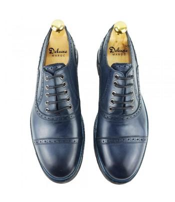 DELUXE Mathis Chaussure Cuir Bleu