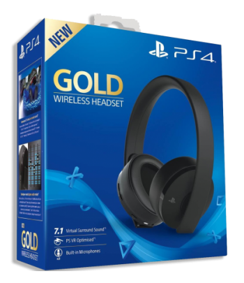 Casque PS4 sans fil Gold...