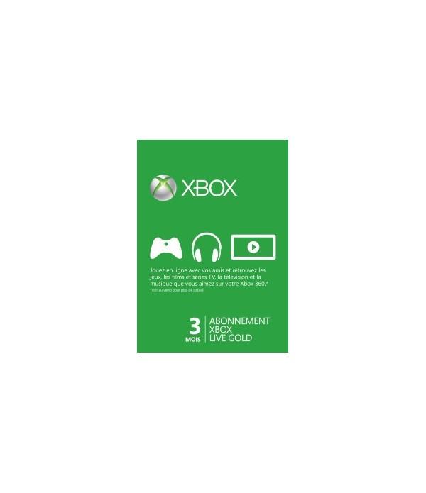 Carte d'abonnement Xbox Live Gold Maroc