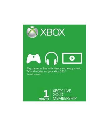 Carte d'abonnement Xbox Live Gold - 1 mois